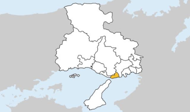 兵庫県第3区の地図