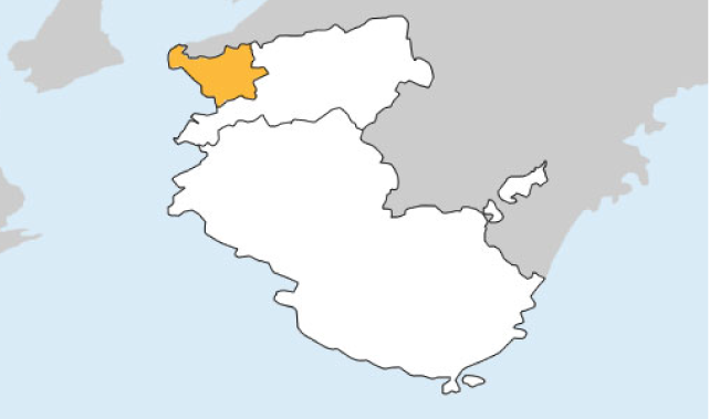 和歌山県第1区の地図