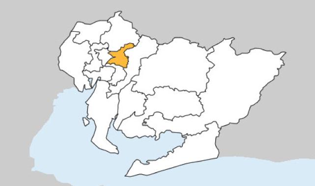 愛知県第2区の地図