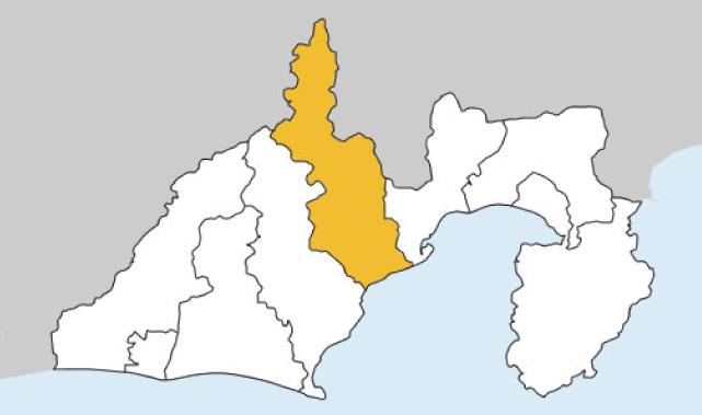静岡県第1区の地図