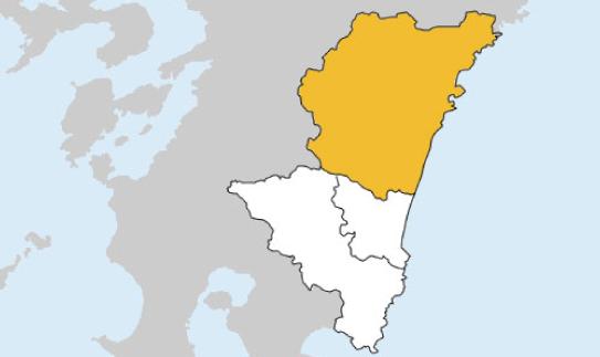 宮崎県第2区の地図