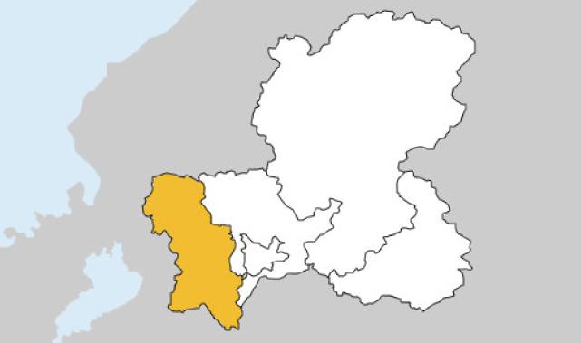 岐阜県第2区の地図