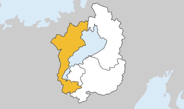 滋賀県第1区の地図