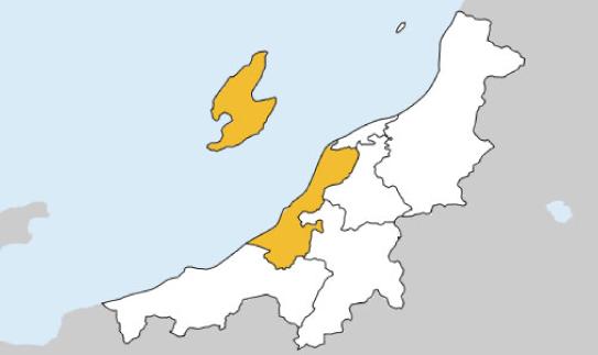 新潟県第2区の地図