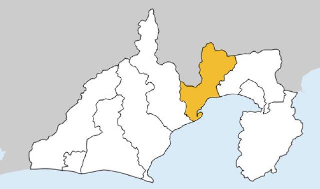 静岡県第4区の地図
