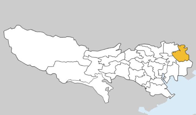 東京都第17区の地図