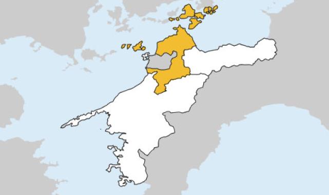 愛媛県第2区の地図