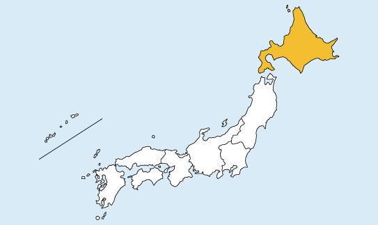 比例北海道の地図